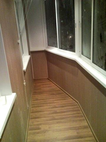 Отделка балконов и лоджий. фото.